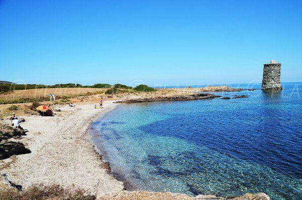 Santa Maria beach before the tower - Macinaggio - Corsica