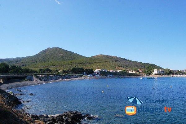 Photo de la plage de Santa Severa dans le Cap Corse