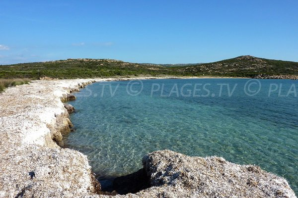 Photo of Saparelli beach in Bonifacio in Corsica
