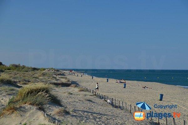Extrémité de la plage du Sardinal - Canet-Plage