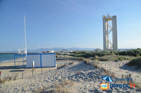 Partie sud de la plage du Sardinal au Canet