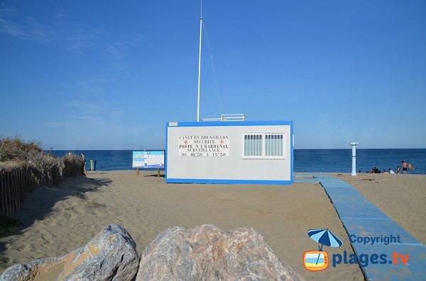 Poste de secours de la plage du Sardinal