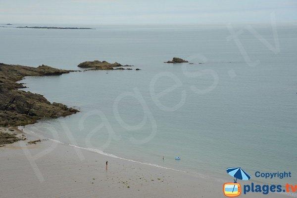 Photo de la plage de Saussaye à Cancale