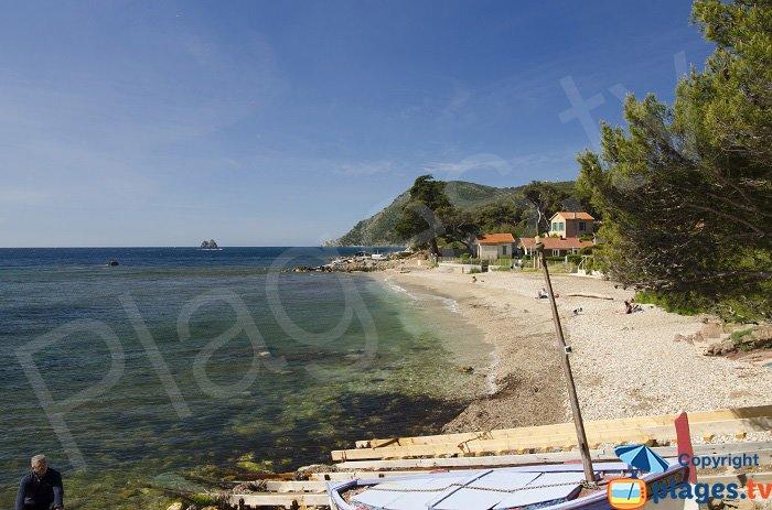 Typical beach in La Seyne sur Mer