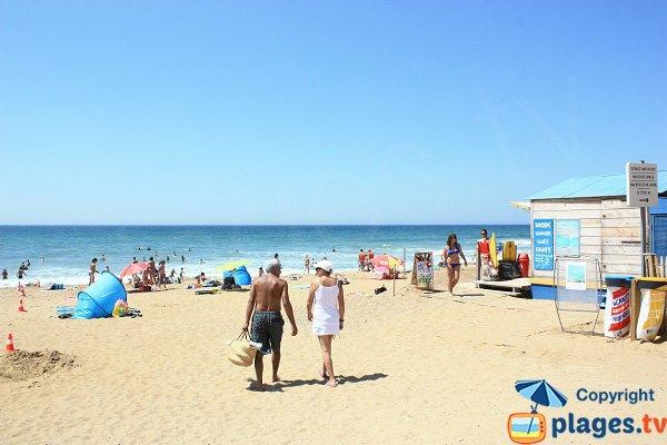 Sauveterre beach in Olonne sur Mer in France