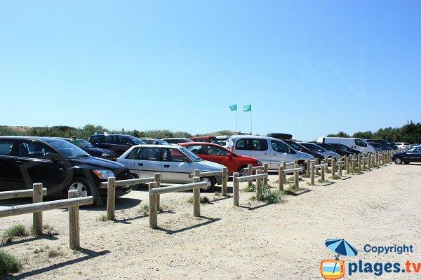 Parking of Sauveterre beach in Olonne sur Mer