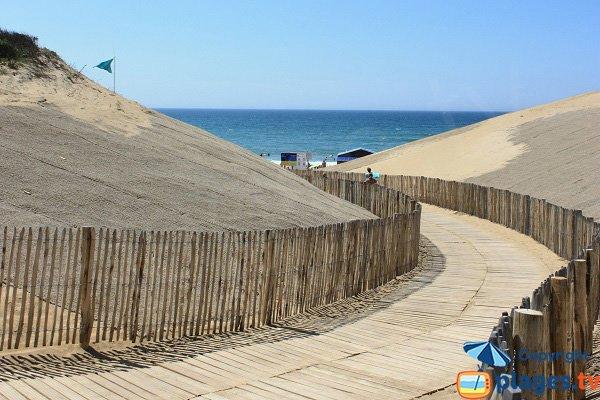 Accès à la plage de Sauveterre à Olonne sur Mer