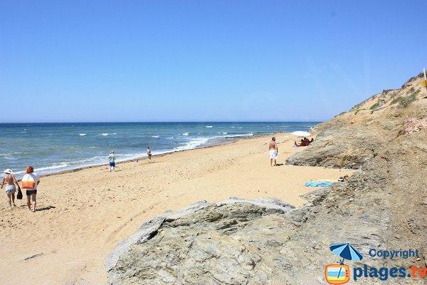 Beach near the Pierres Noires in Olonne sur Mer