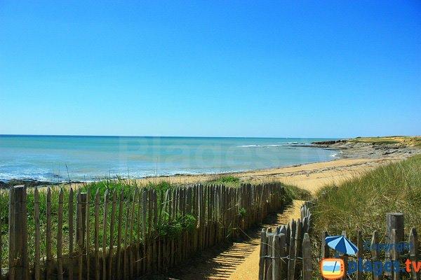 Accès à la plage de Sauzaie