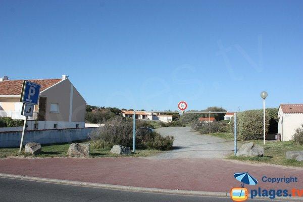 Parking de la plage de la Sauzaie - Brétignolles - Vendée