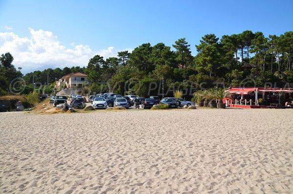 Parking au niveau de la plage de Scaffa Rossa