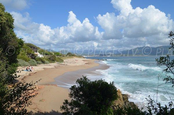 Spiaggia di Scodi Neri a Olmeto in Corsica