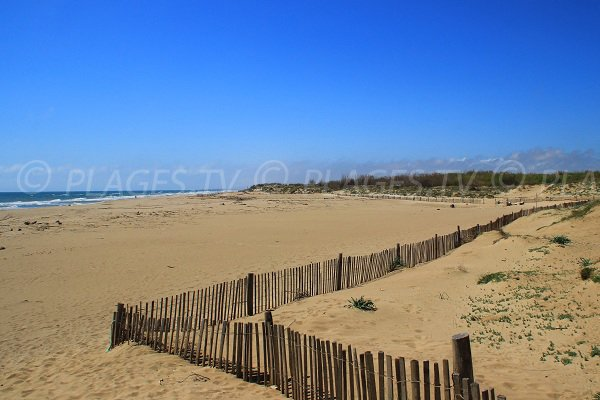 Séoune beach in Sérignan-plage in France