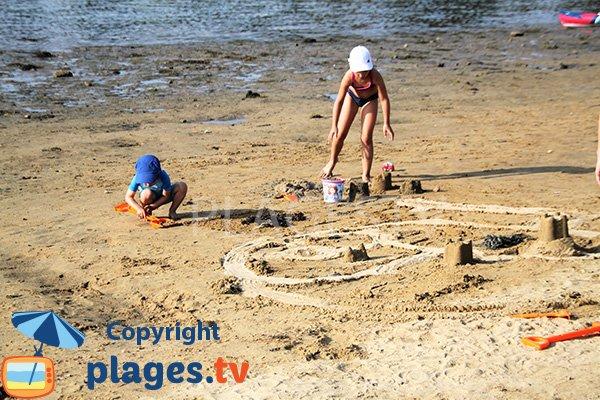 Sable de la plage des 7 iles - Baden