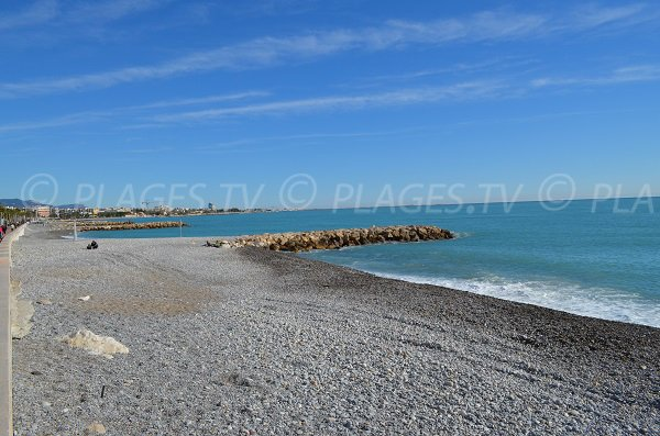 Serre beach in Cagnes sur Mer in France