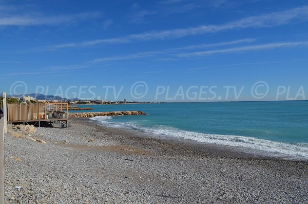 Serre beach in Cagnes - Area of water treatment station