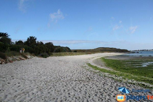 Plage du Skeiz à Guissény à marée basse