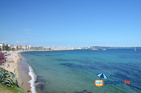 Photo of Golfe Juan beach and view on Juan les Pins