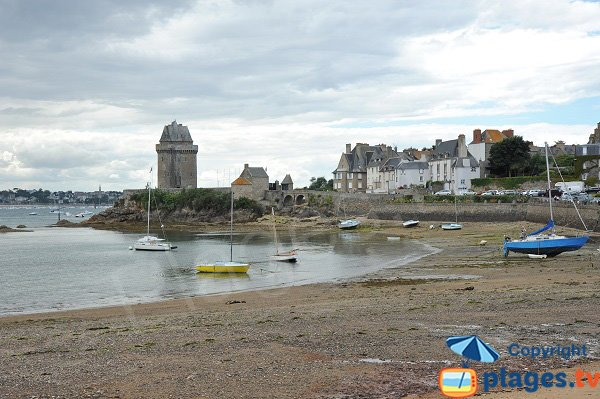 View on the Solidor tower from the beach - Saint-Malo