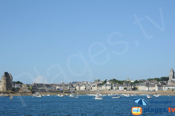 Solidor beach in St Malo - France