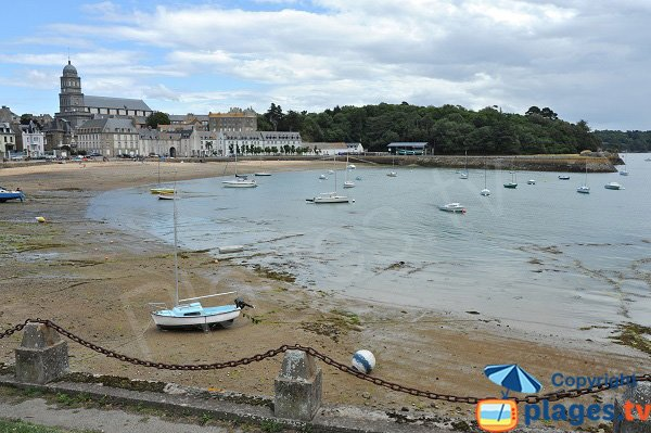 Photo of the Solidor beach in St Malo (Brittany)