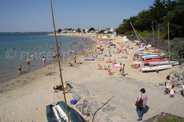 Bay of Sorlock in summer in France