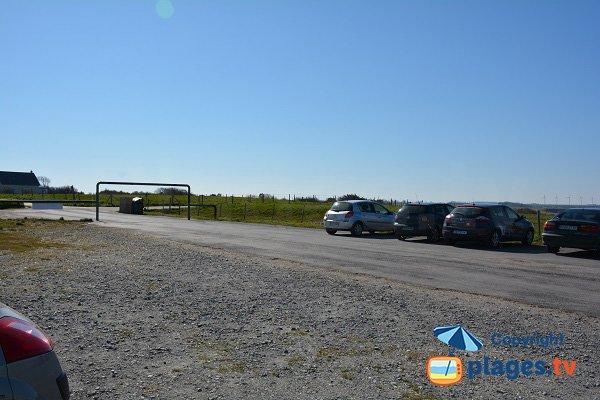 Parking de la plage de Sotteville sur Mer