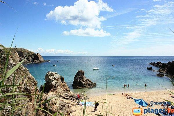 Photo de la plage des Soux sur l'ile d'Yeu