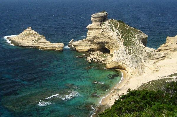 Photo de la plage de St Antoine à Bonifacio