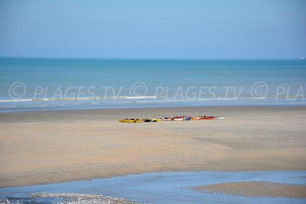 Sand beach in Seine Maritime - St Aubin sur Mer