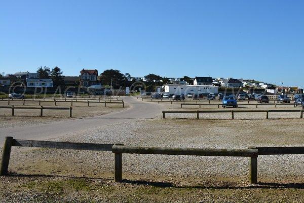 Parking de la plage de St Aubin