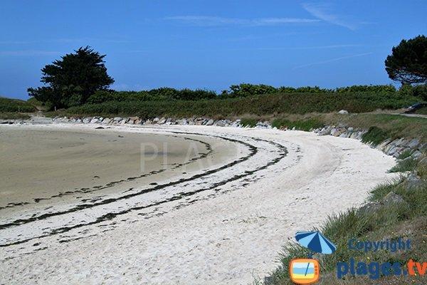 plage de Saint Cava à marée haute - Plouguerneau