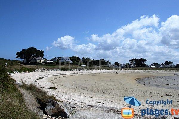 plage de Saint Cava à Plouguerneau