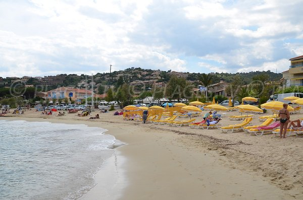 St Clair private beach in Lavandou