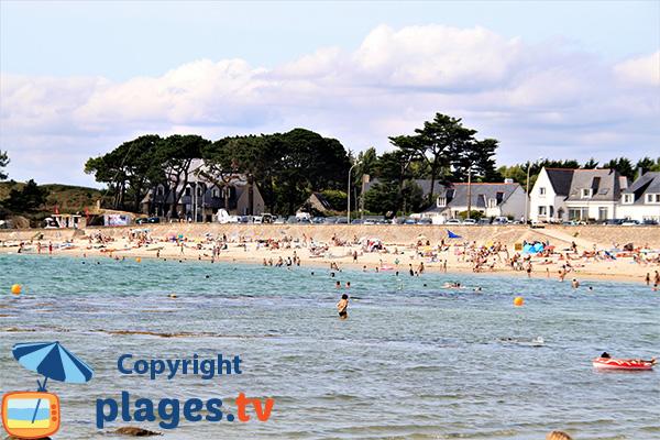 Environnement de la plage de Saint Colomban à Carnac