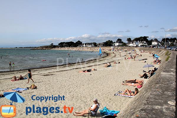 Photo de la plage de Saint Colomban en été - Carnac