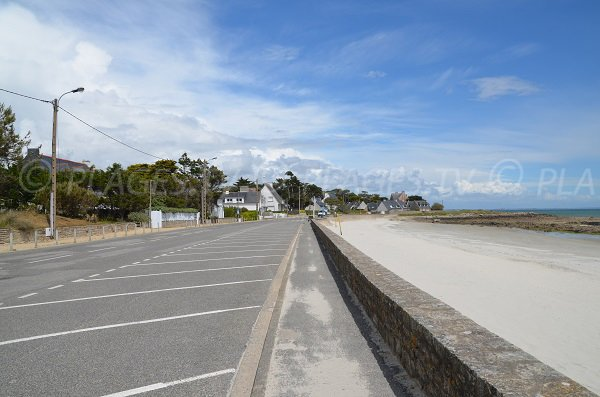 Parking of St Colomban beach in Carnac