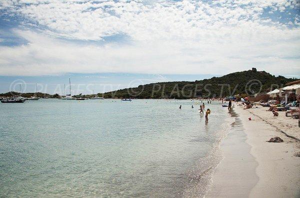 Plage privée à San Ciprianu (St Cyprien en Corse)