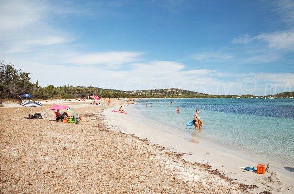 Photo de la plage de San Ciprianu en Corse