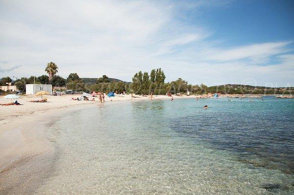 Foto della spiaggia Sud di Saint Cyprien in Corsica