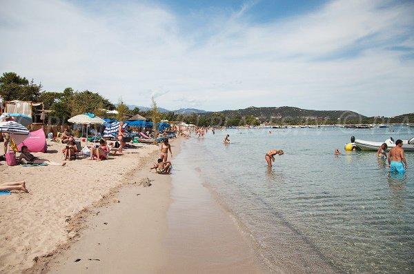Spiaggia di San Ciprianu in estate Corsica