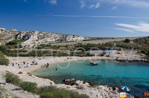 Sand beach in Frioul island - St Estève