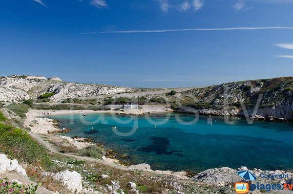 Photo of St Esteve beach in Frioul Island - Marseille - France