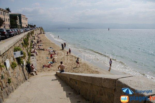 Stair of Ajaccio beach - Saint Francois