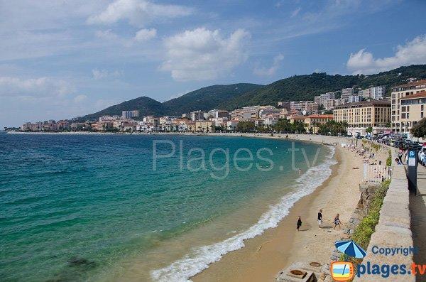 St François beach in Ajaccio - Corsica