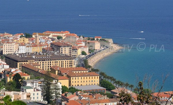 Ajaccio and its beach