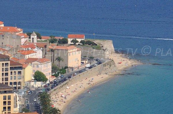 Citadel and beach of St François Ajaccio