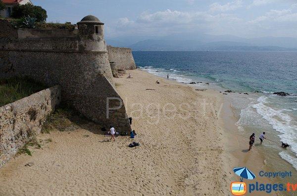 Beach of the Citadel of Ajaccio