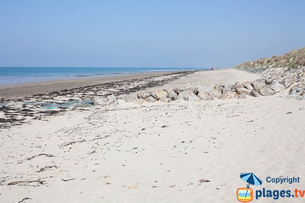 Photo de la plage nord de St Germain sur Ay