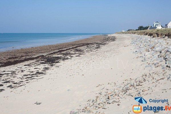 Photo de la plage de Saint Germain sur Ay dans la Manche